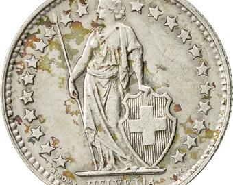 switzerland 1/2 franc 1953 bern ef(40-45) silver km23