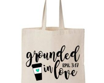 Tote Bag, Canvas Tote Bag, Coffee, Coffee Lover, Coffee Gift, Love, Inspirational Tote Bag, Market Bag, Teacher Bag, Grocery Bag