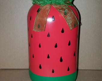 Watermelon Mason Jar