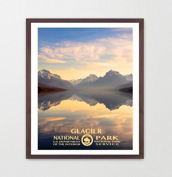Glacier National Park - Glacier National Park Poster - National Park Art - WPA - WPA Poster  WPA Art - Rocky Mountains - Montana Poster