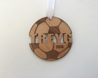 Soccer Ornament Soccer Gifts Soccer Mom Soccer Coach Gift for Girls Boys Engraved Ornament Personalized Custom Christmas Ornament