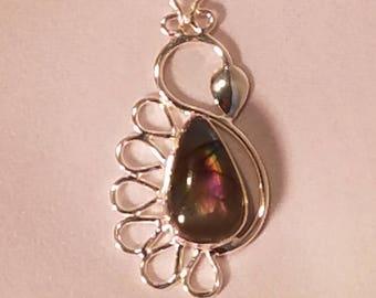 Purple Labradorite in Sterling Silver