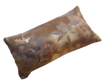 Shades of Brown Floral Pincushion filled with Emery Sand