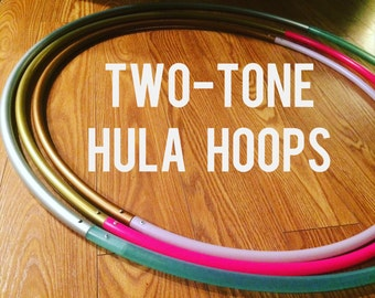 Two Tone POLYPRO and HDPE Dance & Exercise Hula Hoop sale collapsible with push button and riveted