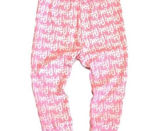 Happy Leggings, Valentine's Day Leggings, Pink Leggings