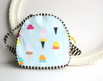 Backpack - Diaper Bag Backpack - Mini Backpack - Toddler Backpack - Canvas Backpack - Girls Backpack - Small Backpack - Ice Cream Bag - Tote