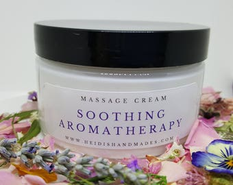 Soothing Aromatherapy Massage Cream - Soothing Massage Cream - Aromatherapy Massage Cream - Massage Cream