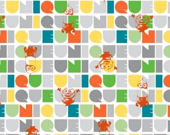 Minions Le Buddies Fabric Orange From Quilting Treasures