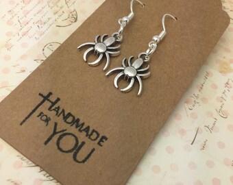 Spider  Earrings, magical earrings, wand earrings, quirky earrings, dangling earring,