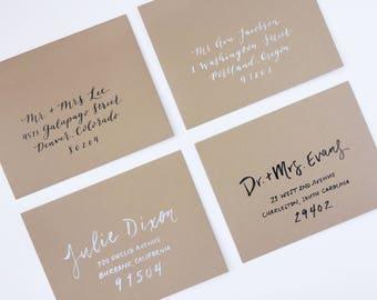 CUSTOM Calligraphy or Hand Lettered Envelope Addresses - Wedding Envelopes, Wedding Calligraphy