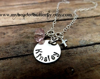 personalized necklace - first communion necklace - religious necklace -baptism necklace-godparent necklace-confirmation necklace