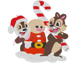 Machine Embroidery Design christmas squirrel - Instant Digital Download