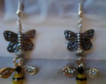 Whimsical Bumble Bee Earrings