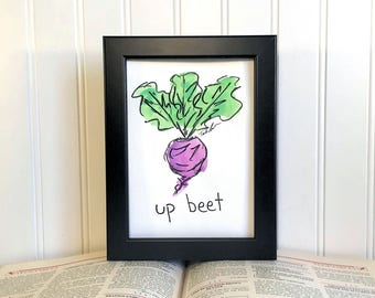 Original Watercolor Painting - Up Beet - Unframed