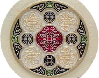 Celtic Wheel of Life - Cast Paper - Irish art - Celtic art - Scottish art - Celtic Knot - Celtic Wheel - Ireland