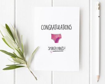 Funny Well Done Card / Congratulations Card / Greeting Card / With A Fun Theme And Smarty Pants Illustration