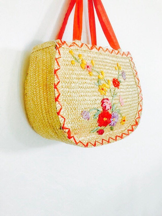 70s Summer Lovin Basket Bag