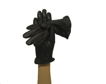 Leather Gloves with pure cashmere lining