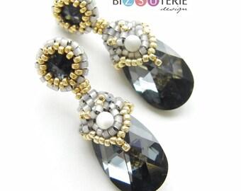 Diane earrings - instant download beading pattern