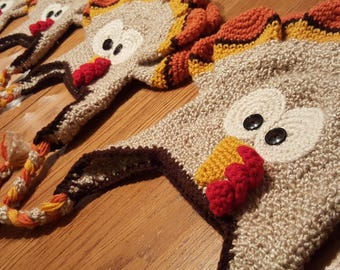 Handmade Crochet Turkey Hat Photo Prop