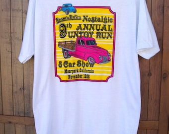 Vintage T-Shirt New Old Stock (NOS) Dead stock Roam N' relics Nostalgic 9th Annual Untoy Run & Car Show 1988 Hanes Fifty-Fifty Tudor