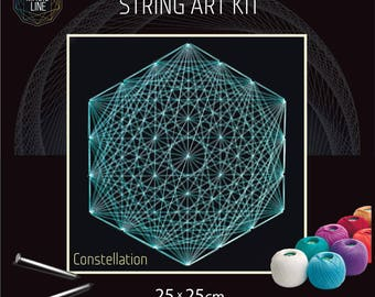 Interior design in string art by anna by magiclinestore on etsy string art kit onstellation mandala patterns mandala kits zen gift do it solutioingenieria Image collections