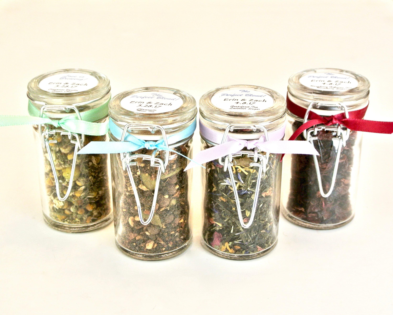 Tea Favor 12 Snap Top Jars Tea Party Wedding Favors Bridal
