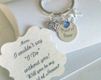 Maid of Honor Proposal, Maid Of Honor Gift, Bridesmaid Gift, Bridesmaid Proposal, Bridesmaid Ask, Keychain, Charm TINY