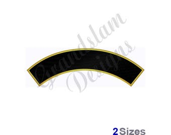 Filled Rocker Curved Banner  - Machine Embroidery Design