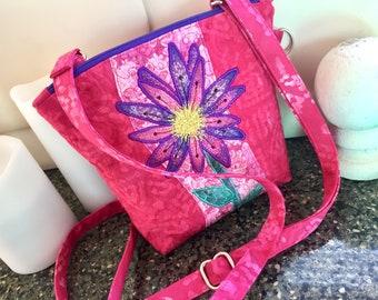 Pink And Purple Crossbody Bag