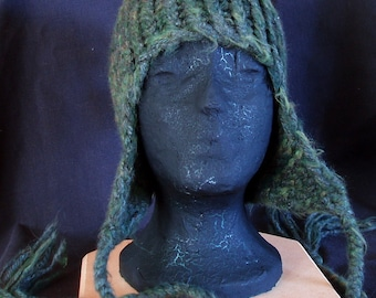 Knit Hat with ear flaps -  many colors available