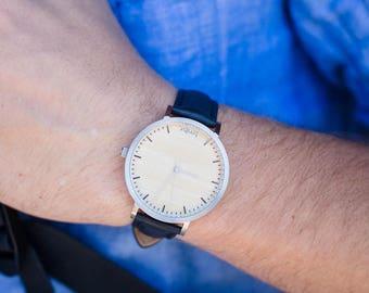Pesonalized Watch, Men's Watch, Men's Wooden Watch, Personalized Wood Watch - HELM-SC