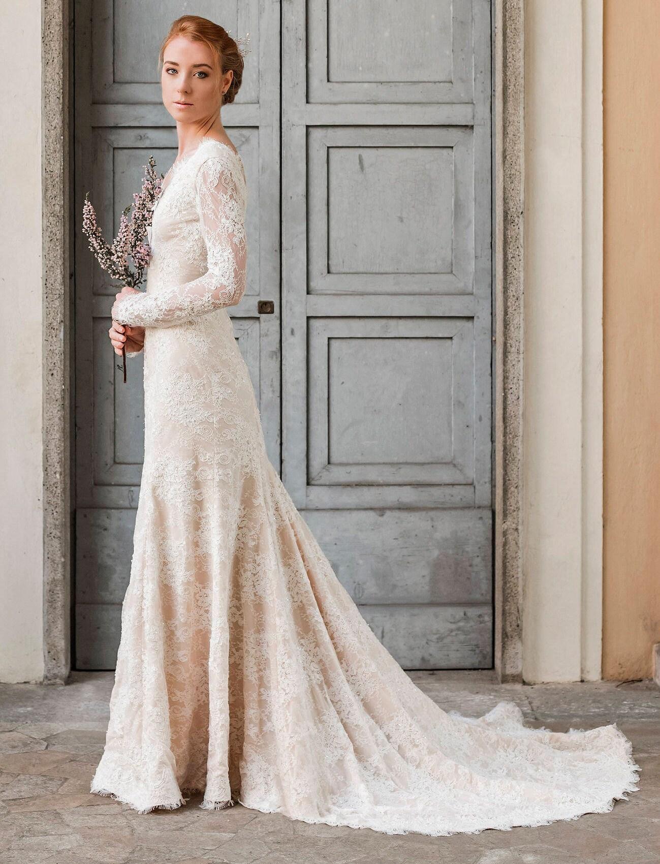 Meerjungfrau Hochzeitskleid Trompete Hochzeitskleid