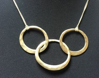 Kenneth Cole Hammered Ring Bib Necklace