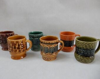 Set of 6 Mugs Made in Japan