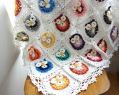 DIGITAL CROCHET PATTERN  owl blanket,crochet blanket pattern,photo tutorial,crochet owl pattern,crochet owl, colorful blanket