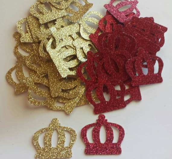 Royal Little Prince Crown Confetti Red Gold Blue And Purple Glitter Also  Available 1st Birthday Or Baby Shower Table Decor From Prettymypartydecor  On Etsy ...
