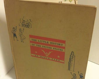 "Vintage Children's Book ""A Little History of the United States"" by Mable Pyne,1940"