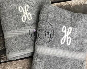 Custom Bath Towels Set | Embroidered Bath Towels Set | Monogrammed Bath Towels Set | Monogrammed Towels