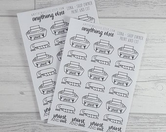 Print and Cut - Luna [Shop Owners] Collection - Planner Stickers, EC Stickers, Bullet Journal Stickers