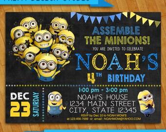 Minion InvitationMinion Birthday InvitationMinion Birthday