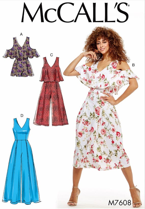 Sewing Pattern Jumpsuit Pattern Women\'s Romper Pattern