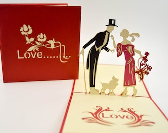Pop Up Card - Anniversary Card - Love Card - Good Greeting Card - I Love You Card - Valentines Day Card