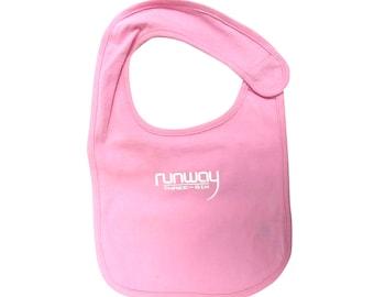 Pink Baby 'runway THREE-Six' Bib by runway THREE-SIX