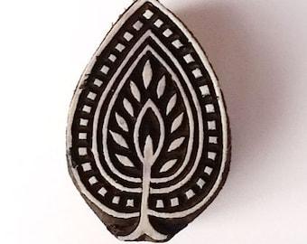 Tree / Leaf Stamp - Indian Wood Block Printing Hand Carved Stamp