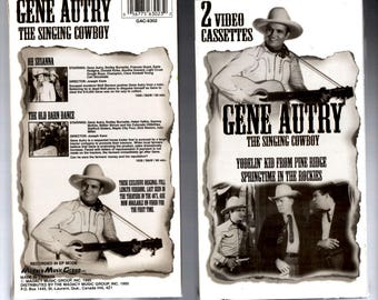 Ten (10) Gene Autry, the Singing Cowboy, VHS movies