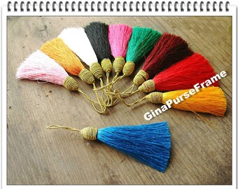 8pieces-Rainbow color Fringe/Macrame/spike/Tassel for purse making(purse bag metal frame)