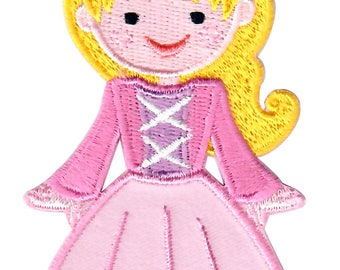 Pink Princess Iron-On Patch Applique - Kids / Baby