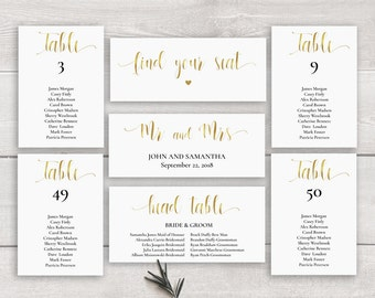 Wedding seating chart table plan instant download gold seating chart template printable wedding seating chart download seating plan wedding seating junglespirit Image collections