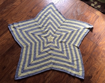 Custom Crochet Star Baby Blanket